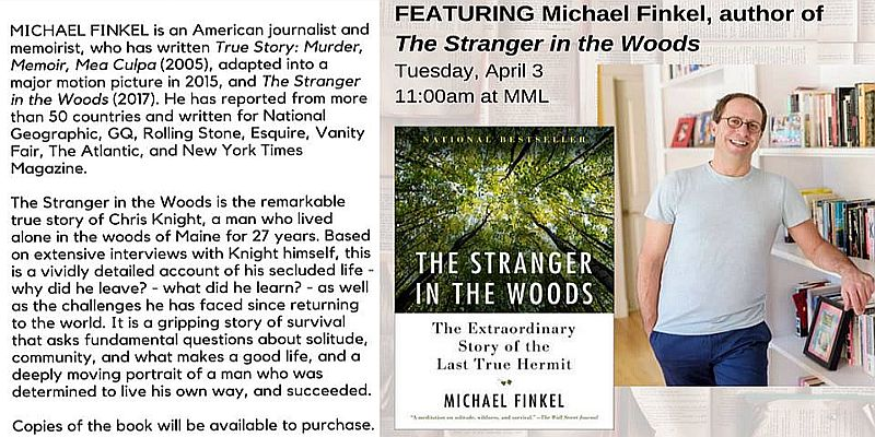 MML Guest Author Series Featuring Michael Finkel