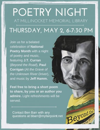 Poetry Night with JT Curran, Paul Corrigan, and Jeff Hamm